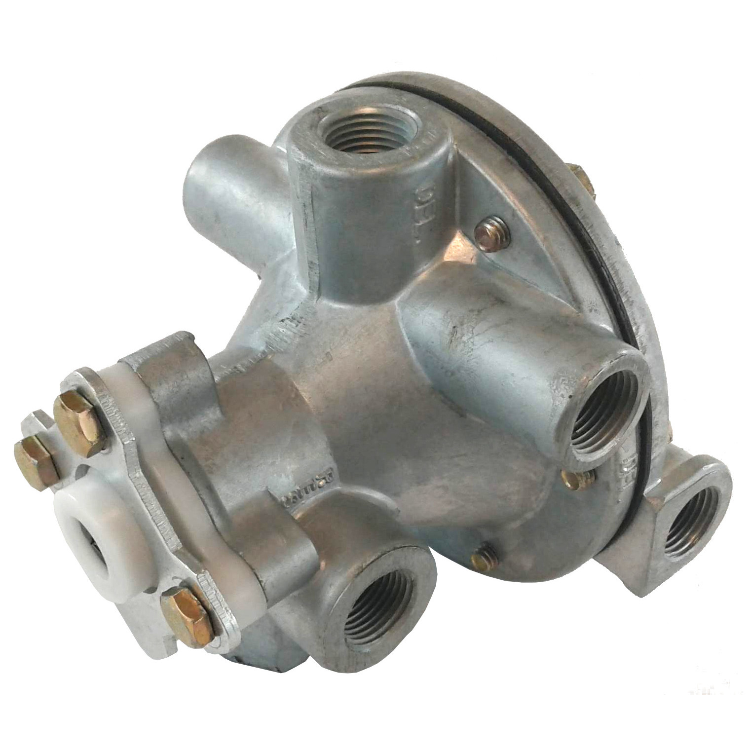 2 Delivery Port Tractor Trailer Service Relay Brake Valve - 3/8 Inch - 1/2  Inch NPT - Nipple Mount