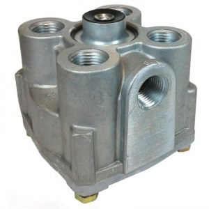 R-12 Air Brake Relay Truck Trailer Valve - Vertical Ports