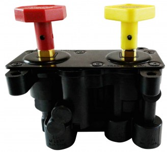 MV-3 Style Hand Operated Trailer/Parking Manifold Dash Control Module Valve